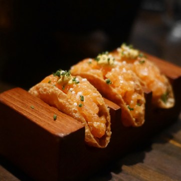 Salmon Tacos from Best Upscale Peruvian Restaurant Coya Mayfair London