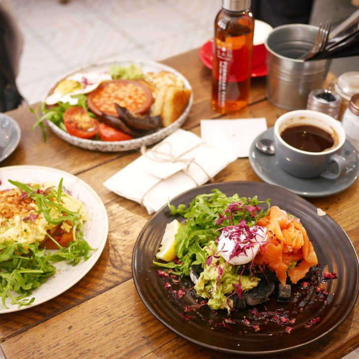 Brunch dishes at Half Cup Kings Cross London