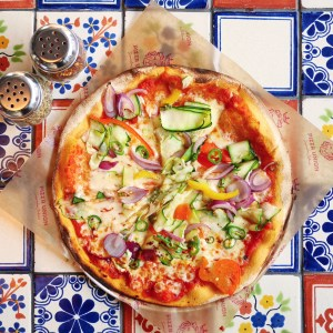 Vegetarian Pizza - Pizza Union, King's Cross