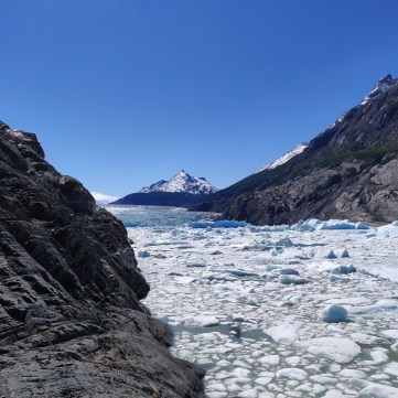 Glacier Grey calving 5 days before our Kayak trip