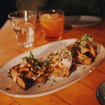 BAEST Copenhagen - Mushroom and lardo on sourdough toast