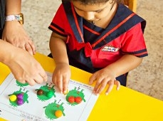 Maths learning counting at Lollipop Nursery Sharjah