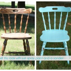Diy Painted Windsor Chairs Folding Chair Covers Weddings Spray Paint Project Roundup Save