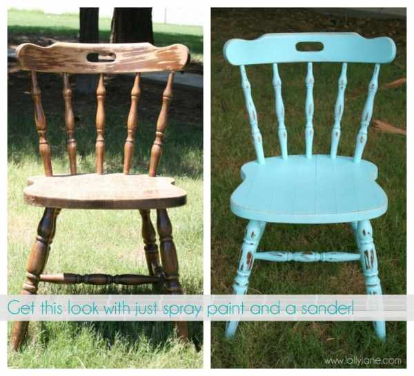 Distressing Furniture with Spray Paint