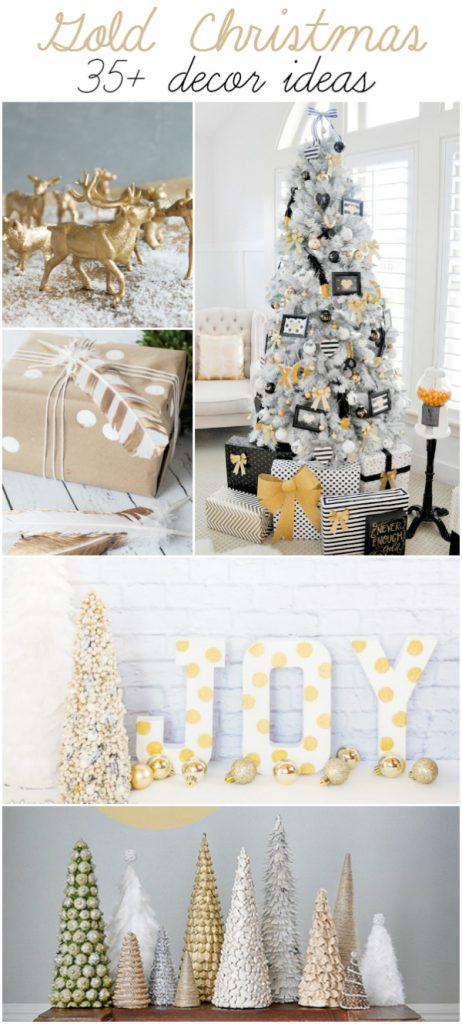 Gold Christmas Decor Ideas