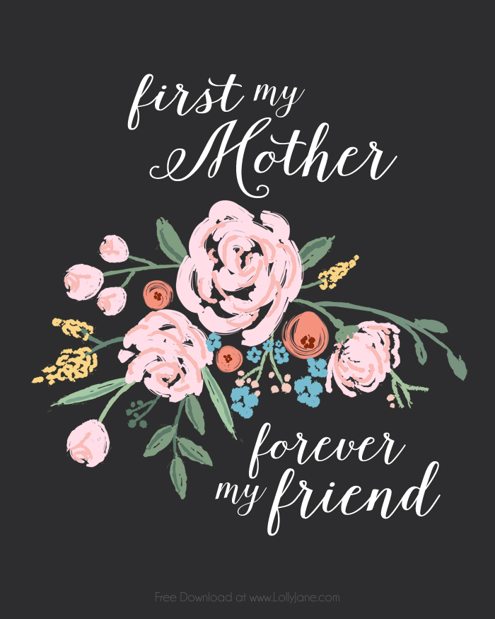 Happy Mothers Day To A Friend Images : happy, mothers, friend, images, Mothers, Printable