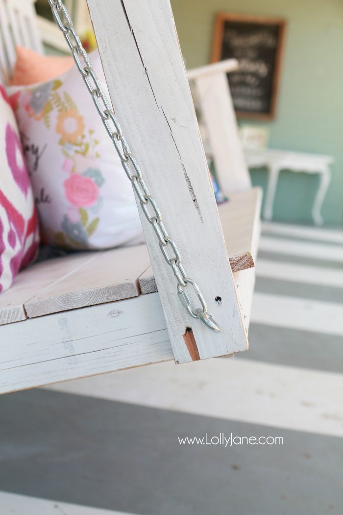 swing chair hire bedroom lounge ottoman tips to hang a porch lolly jane how the safe way diy fail hanging