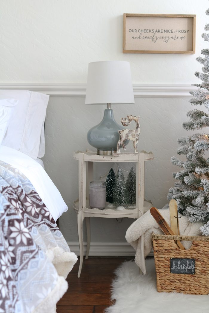 Christmas Decorated Bedroom