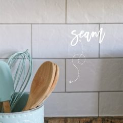 Kitchen Backsplash Rolls Good Quality Utensils Faux Subway Tile Wallpaper
