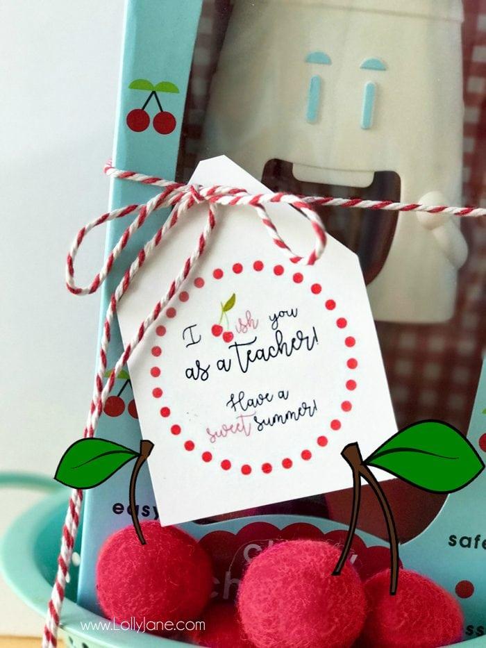 Cherry Gift Teacher Appreciation Tags Lolly Jane