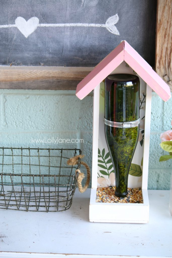 Martinellis glass bottle bird feeder  Lolly Jane