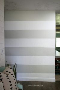 DIY Striped Accent Wall - With Gray & White Stripes ...