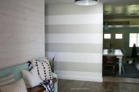 striped accent wall | DIY - Lolly Jane