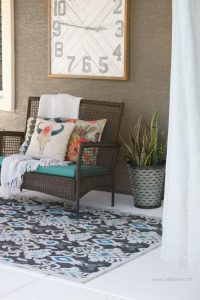 Painted Concrete Patio Tutorial - An Easy Porch Makeover ...