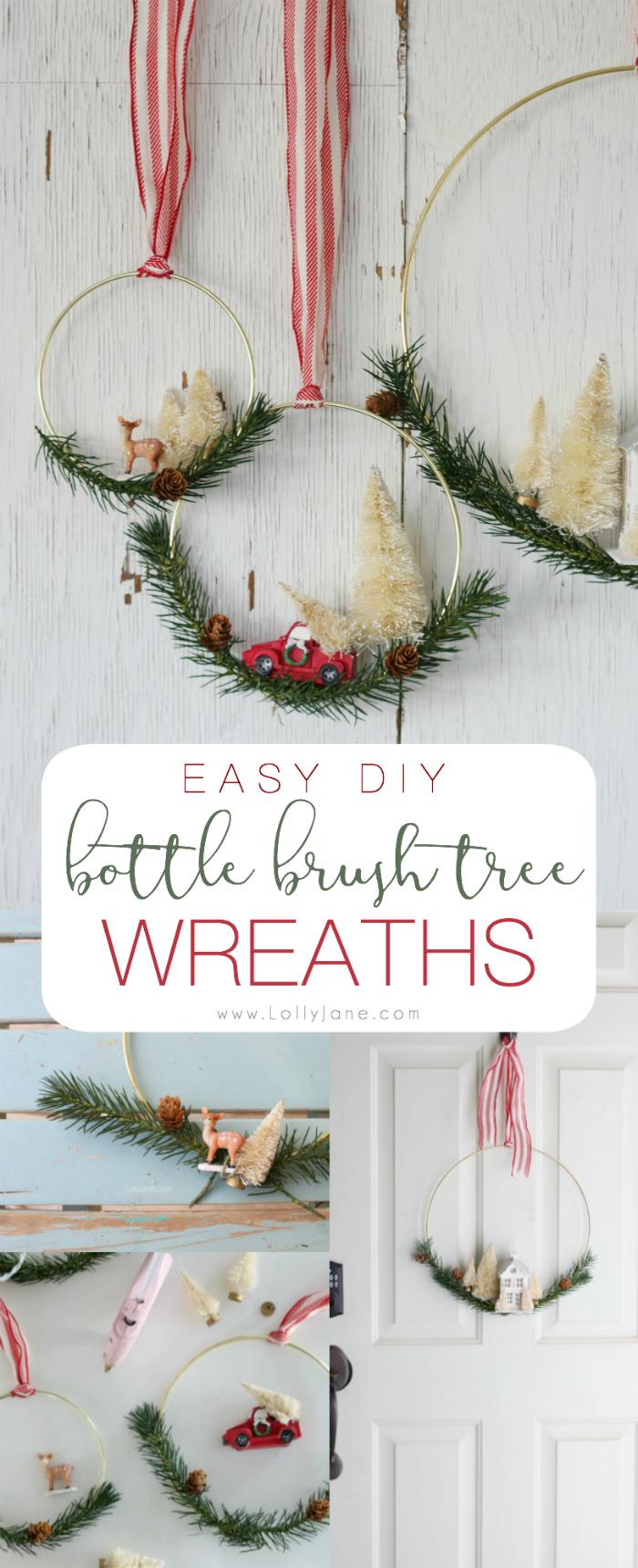 diy bottle brush tree