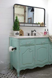 Vintage Dresser Bathroom Vanity - Lolly Jane