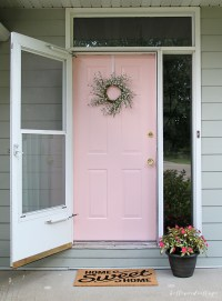 12 Painted Pink Door Ideas, so cute! - Pink Door Ideas ...