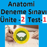 Anatomi Deneme Sınavı Ünite -2 Test-1