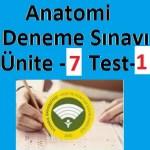 Anatomi Deneme Sınavı Ünite -7 Test-1