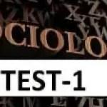 Sosyoloji Test-1
