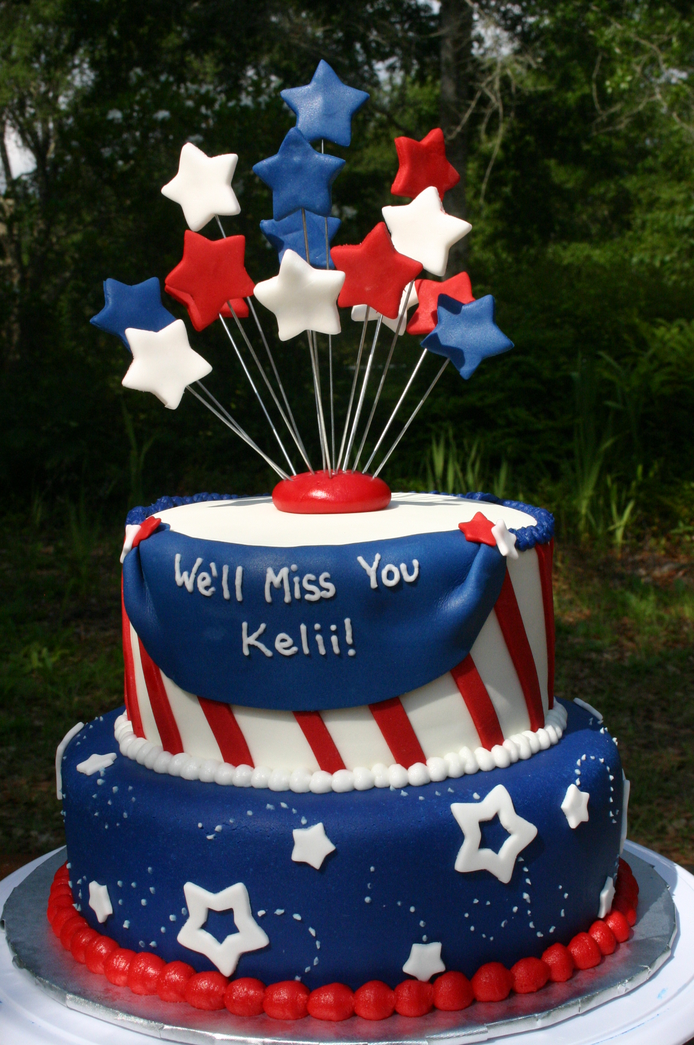 Patriotic going away cake  Lolos Cakes  Sweets