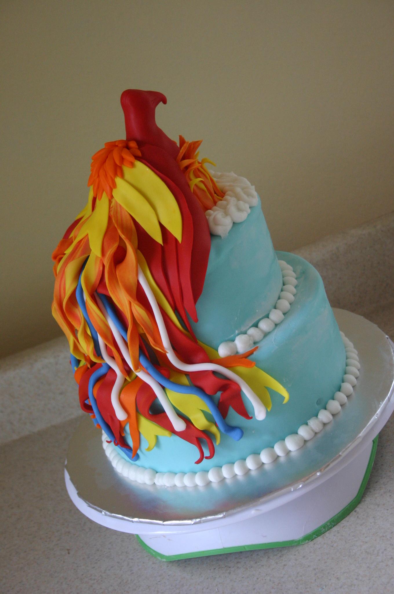 Phoenix firebird birthday cake  Lolos Cakes  Sweets