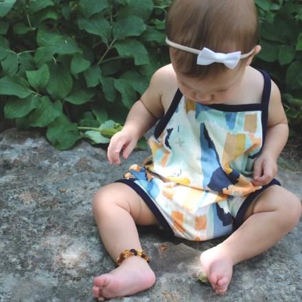 Romper: Cotton Bottom Designs | Bow: Kate's Bows
