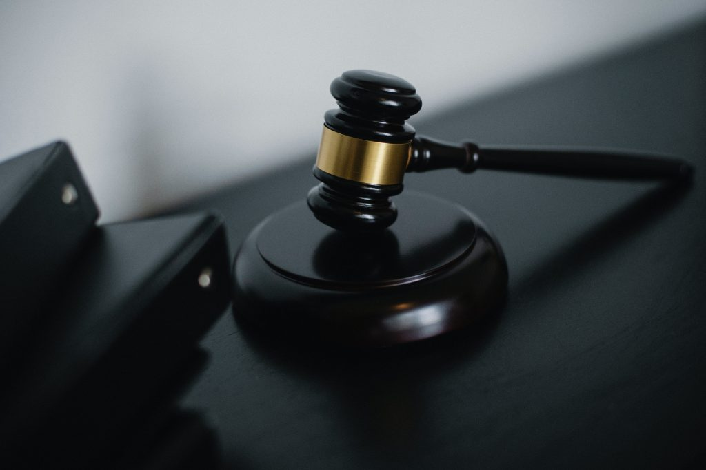 The judge's gavel to indicate judging a case