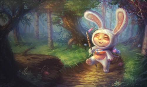 Cottontail Teemo Skin - League of Legends Wallpapers