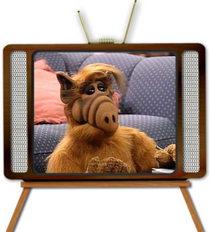 Alien ALF on TV
