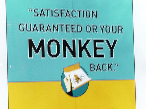 We're so sure you'll like this post, satisfaction is guaranteed or your monkey back.
