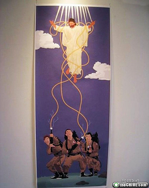 Jesus vs Ghostbusters