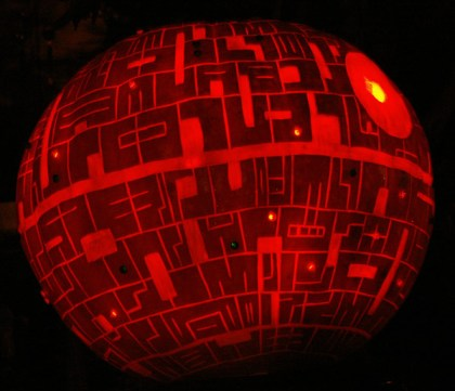 Star Wars Death Star Pumpkin