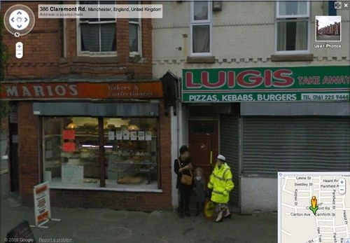 Mario and Luigi Found On Google Maps