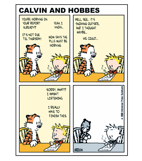 If Calvin Was Medicated, There