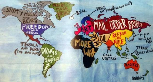 Not So Politically Correct World Map