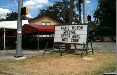 Would You Like The Paris Hilton Special?