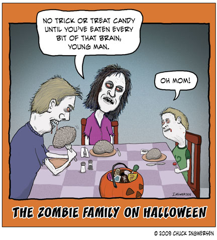 Even Zombies Like Halloween Candy