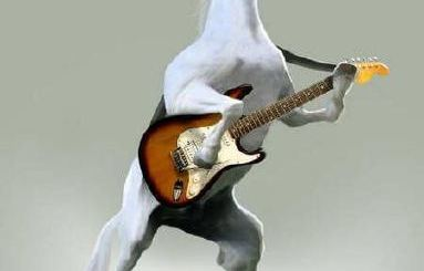 A Horse Playing Guitar