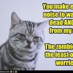LOL Zombie Cats Warning