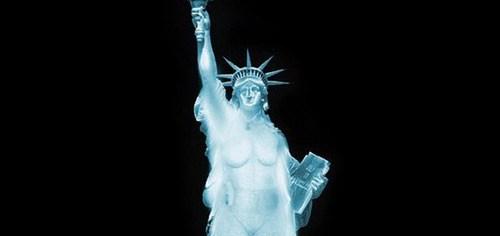 Statue of Liberties TSA Scan