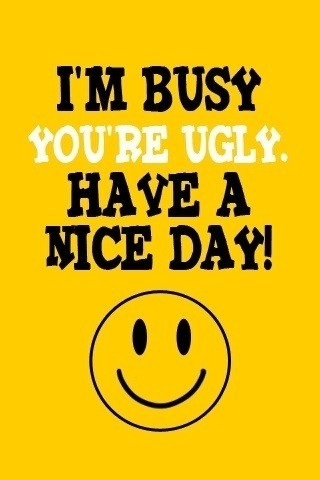 I'm Busy. You're Ugly. Have A Nice Day.
