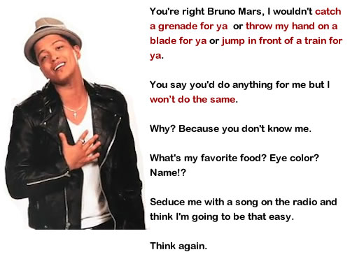 I'm Not That Easy Bruno Mars