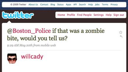 Boston Police Will Report Zombie Attacks