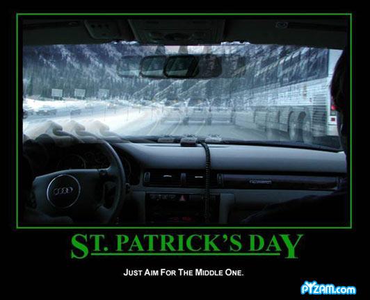 Happy Fuzzy St. Patricks Day - Drive Safe