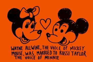 Awww. Mickey and Minnie Were Married