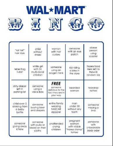 Anyone Want To Play Walmart Bingo?