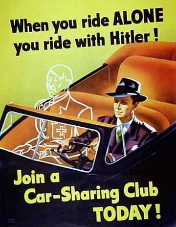 When you ride alone, you ride with Hitler.