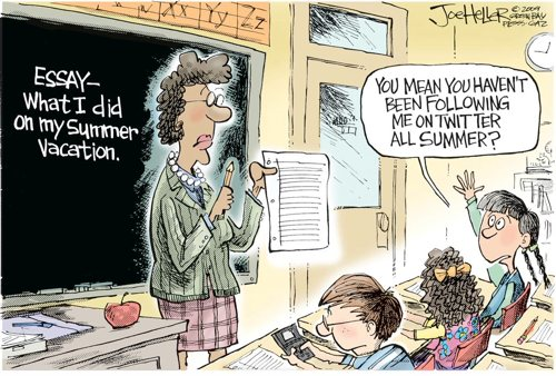 Summer Essays Now on Twitter