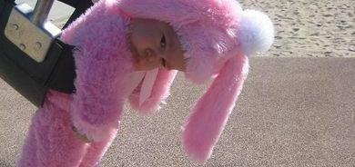 I've got the pink bunny Monday blues.